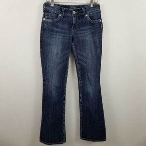 Silver Suki Boot Cut Dark Wash Blue Jeans Sz 28x34